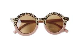 Color block leopard (roze/mint)