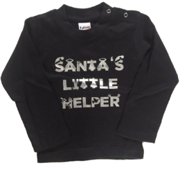 Santa's little helper black/silver