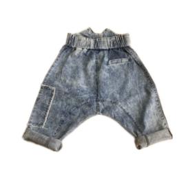 Acid pocket jeans shorts