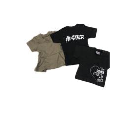 New born set girl 3 shirts - 50/56