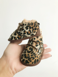 Furry booties leopard