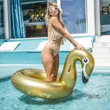 Gouden zwaan zwemband  groot