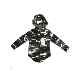 Camo grey zipped hoodie