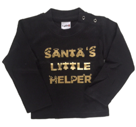 Santa's little helper black/gold
