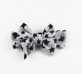 Bow star headband grey