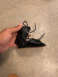 Tassel gladiator booties black