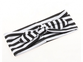 Knotted headband Black & White
