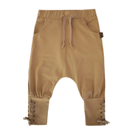 Drop crotch laced pants mustard