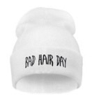 Bad hair day beanie white