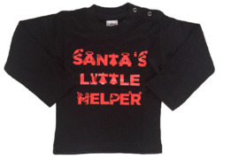 Santa's little helper black/red