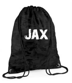 Grey camo gym bag (personalized)