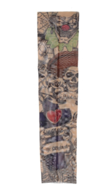 Tattoo sleeve clown skull