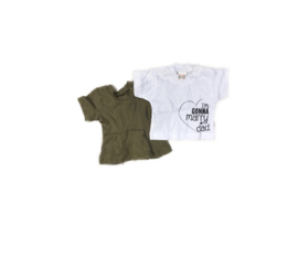New born set girl 2 shirts - maat 50/56