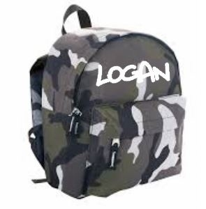 Camo customized backpack