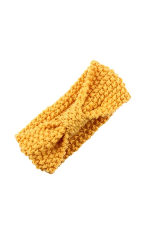 Knitted headband yellow