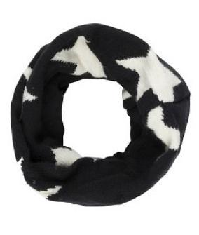 Black/white star scarf
