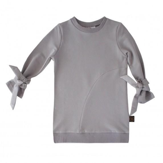 Sweater dress metal grey