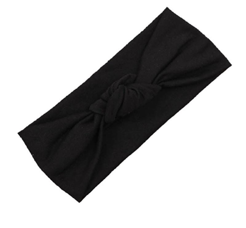 Knot headband black