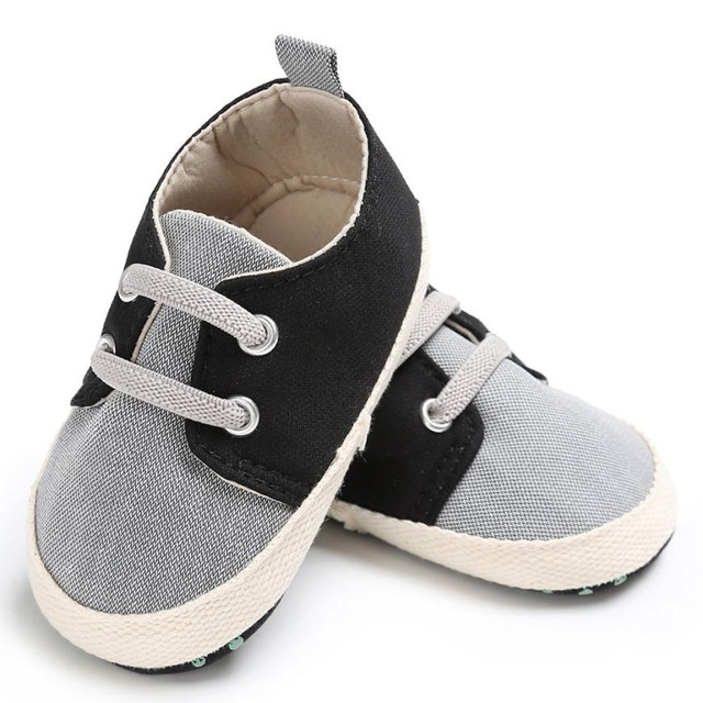 Canvas booties blue