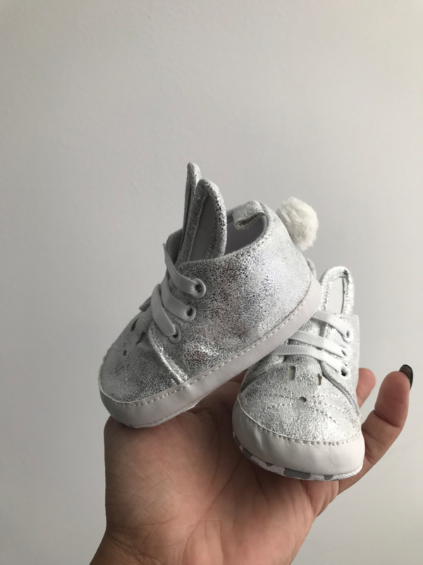 Bunny booties silver