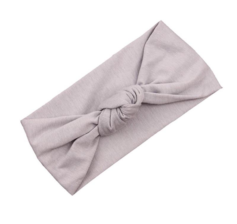 Knot headband grey