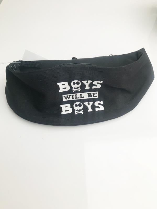 Slogan fanny packs (boys will be boys/who run the world)