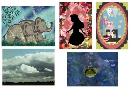 set of 5 postcards 2