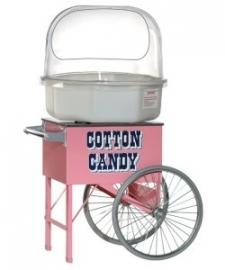 Suikerspinmachine op kar