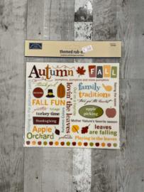 Autumn Rub-Ons - Karen Foster