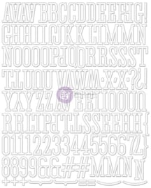 Canvas Alphabet Stickers Creme/white