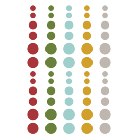 Winter Farmhouse Enamel Dots - Simple Stories