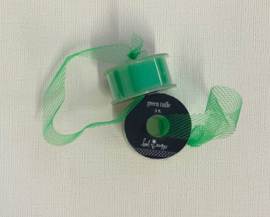 Green Tulle Ribbon 3ft - Heidi Swapp
