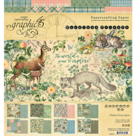 Woodland Friends Paper Pad 8x8 - Graphic 45