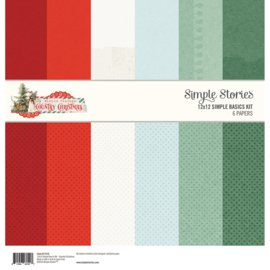 Country Christmas Simple Basics Kit 12x12 - Simple Stories