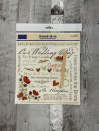 Our Wedding Day Rub-Ons -Karen Foster
