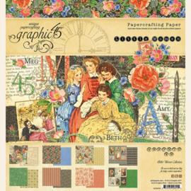 Little Women Paper Pad 8x8 Graphic 45