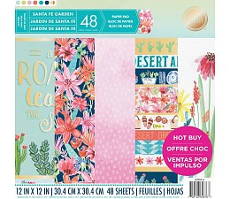 Santa Fe Garden 12x12 Paper Pad 48 sheets Craft Smith