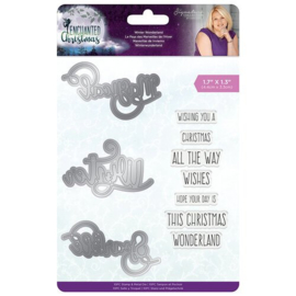 Enchanted Christmas Winter Wonderland Stamp & Dies- Crafters Companion
