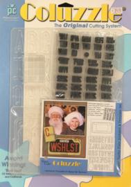 Vanity Plate Alphabet & Template Set