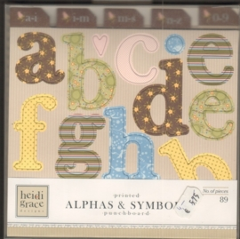 Day Dream believer Printed Alphas & Symbols Punchboard Heidi Grace