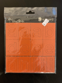 Chipboard Alphabet Dark Orange - Scenic Route