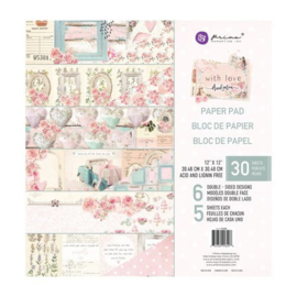 With Love Paper pad 12x12 - Prima Marketing