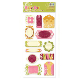 Frenzy Journaling Tags Layered Chipboard