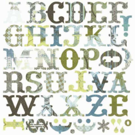Bon Bon Monograms Die-cuts - Periphery Collection Basic Grey
