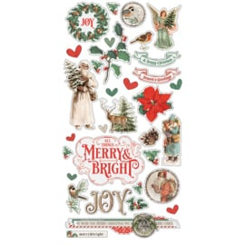 Country Christmas Chipboard Stickers - Simple Stories