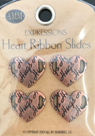 Heart Ribbon Slides - Hugs