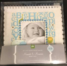 """10"""" x 10"""" Thirteen Month Calendar Baby Boy"""