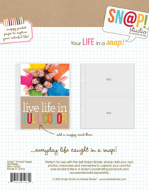 4x6 Refill Sn@p Pocket Pages for 6x8 Binder