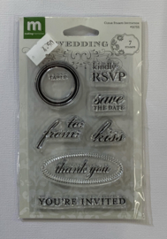 Invitation Clear Stamps - Making Memories
