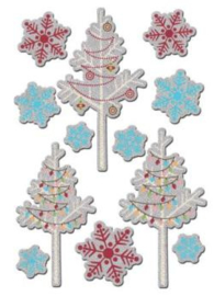 Tinsel Trims Foil Stickers Polar Expressions collection